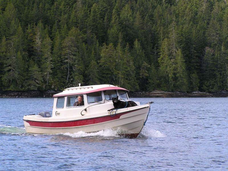Alex in boat