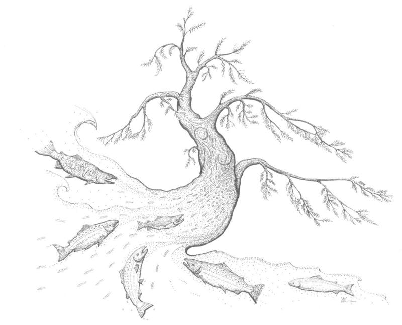 Fishtree pen & Ink