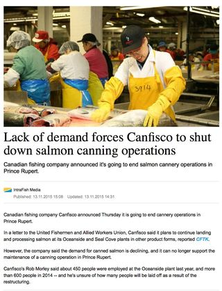 Confisco no more canning