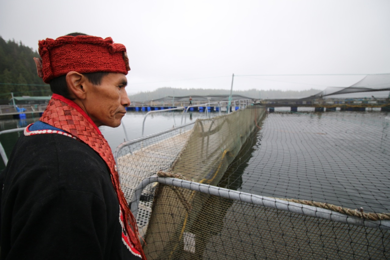 Hereditary leader serves salmon farm an eviction notice