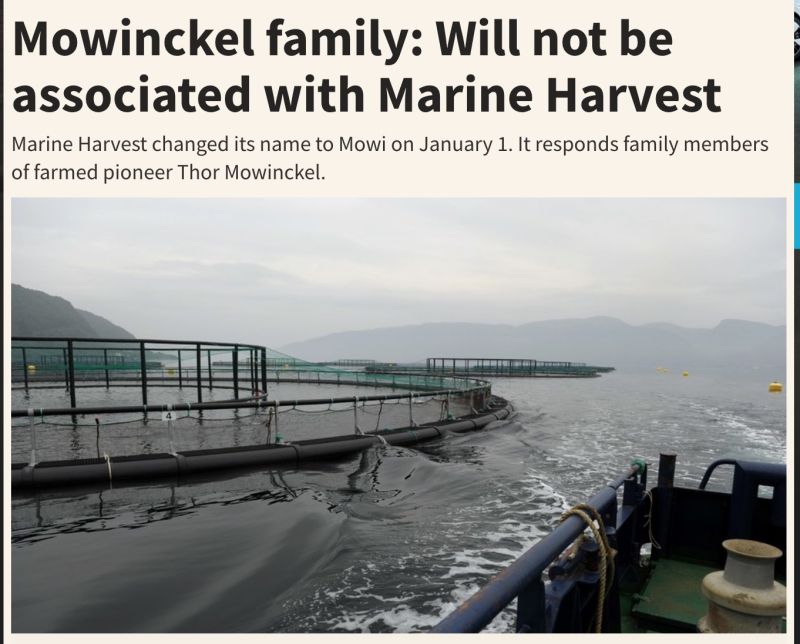 Mowinckel family will not