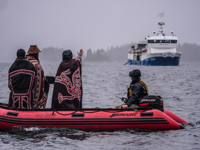 Orca Chief  arrives